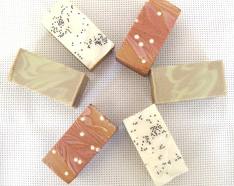 Mini Soap Samples, Try It Soap, Guest Size Soap, Variety Soap, Gift Soap, Stocking Stuffer, Travel Size Soap, Mini Soap, Cold Process Soap