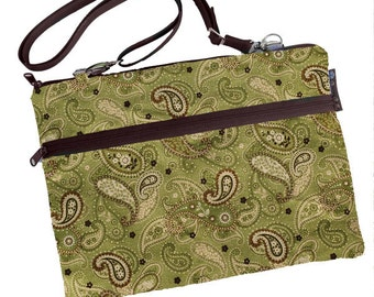 Laptop 13 inch Bag MacBook Air 13 inch sleeve / Retina / MacBook Pro 13 inch Case / Padded FAST SHIPPING Green Paisley Fabric