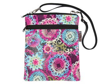 Tablet Bag iPad Case iPad Sleeve iPad Cover Ipad Air / Tablet TRAVEL BAG / adjustable shoulder strap /Fast Shipping - Mimosa Fabric