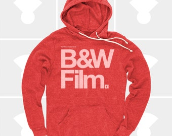 CLEARANCE! Men's Hoodie Black & White Film, Men's Pullover Sweatshirt, Film Camera Typography Hoody, S,M,L,Xl,Xxl (2 Colors) for Men