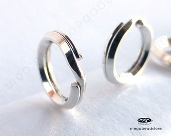 5mm 6mm 7mm 8mm Split Rings 925 Sterling Silver Jump Rings F441