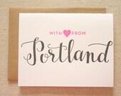Portland Letterpress Card
