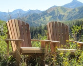 TWO Adirondack Chair Kits - Unfinished - 99% CLEAR WOOD