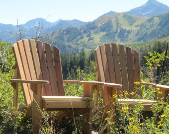 2  Adirondack Chair Kits - Unfinished - 99% CLEAR WOOD