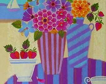 Painting - Original Acrylic Floral