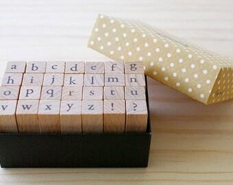 B TYPE - Mini Lowercase stamp Set