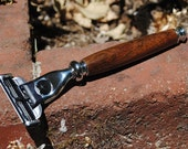 Razor Handle Mach 3 - Indian Laurel - R348
