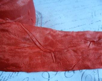 1.5 inch Ruby Wine Sheer Silky Crush Ribbon