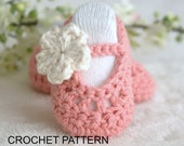 Instant DOWNLOAD, PDF, Crochet Baby Booties PATTERN