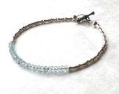 Blue Topaz Bracelet, Blue Topaz Jewelry, November Birthstone Bracelet, November Bracelet, Karen Silver Bracelet, Gemstone Bracelet Teen Gift