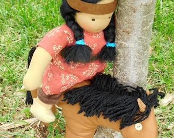 Waldorf doll, 12 inch Germandolls, Steiner doll, Waldorf toy, Native American doll,  Christmas present