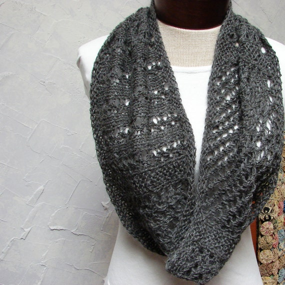 Pattern Lace Cowl knit in the round Lace Cowl Pattern from TerrificCreations ...
