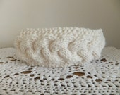 Cable knit headband- Cream