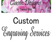 Custom Engraving Services For Classic Designs Engraved Jewelry