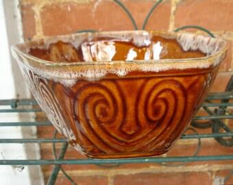 Brown Hexagonal Ungemach Planter