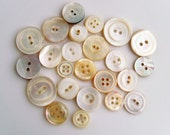 Assorted Vintage Mother of Pearl Buttons - MOP