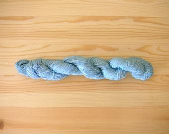 Indigo dyed Sashiko thread  Extra Pale Blue color 100 meters (110yards) skein