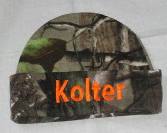 Personalized Beanie Hat Realtree Camo Baby