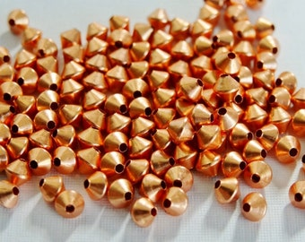 72 Genuine Copper 3mm Bicone Beads