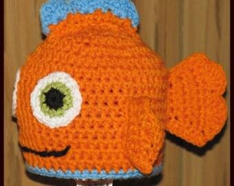 Orange Fish Hat / Bubbles McFinn with FREE USA S&H