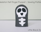 Pattern: Skeleton Felt Finger Puppet