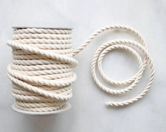 8mm Natural Cotton Rope x 5m