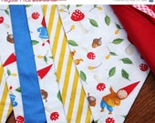 Garden Gnome Themed Bunting, 7 Flags. Ready 2 Ship Gender Neutral Photo Prop, Nursery Decoration, Birthday Party, Kids Room Decor, Pennants