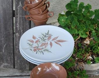 Vintage Texas Ware Set Dinner Plates Mugs Small Bowls
