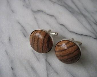 Zebrawood Cufflinks