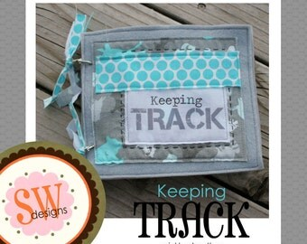 New - PATTERN for Keeping Track plush/quiet book - digital PDF file