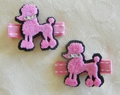 Pink Poodle Clippies
