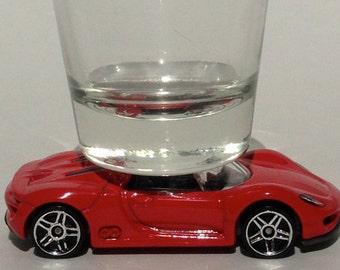 The ORIGINAL Hot Shot, Classic Hot Rods, Shot Glass, Porsche 918 Spyder, Hot Wheels