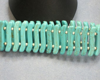 Turquoise and Silver Cuff Bracelet (868)