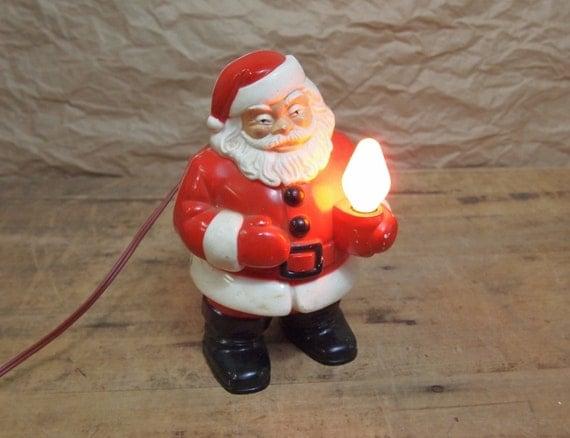 Vintage Light Up Electric Santa Claus Plastic Christmas