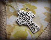 Large Celtic Cross Necklace - Symbolic - Gift Birthday Bridal Bride Best Friend Mother Sister Cousin Daughter