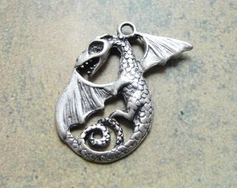 Goth Dragon Pendant