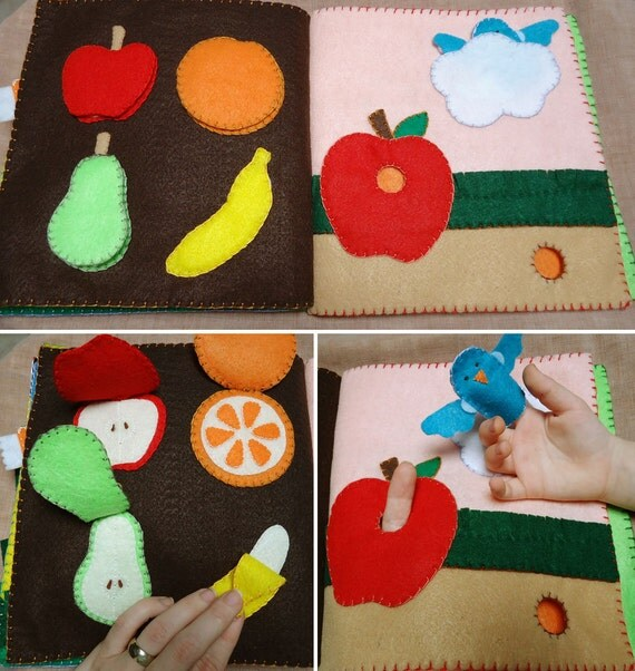 Quiet Book Cover Page Ideas : Page no sew machine or hand toddler felt busy book