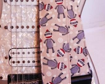 sock monkeys hipster guitar strap