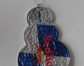 Recycled Snowman Ornament made from Soda Pop Cans Fun and Funky gift GREEN Art