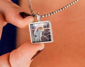 Personalized photo pendant - from artwork or photo - small square or circle.