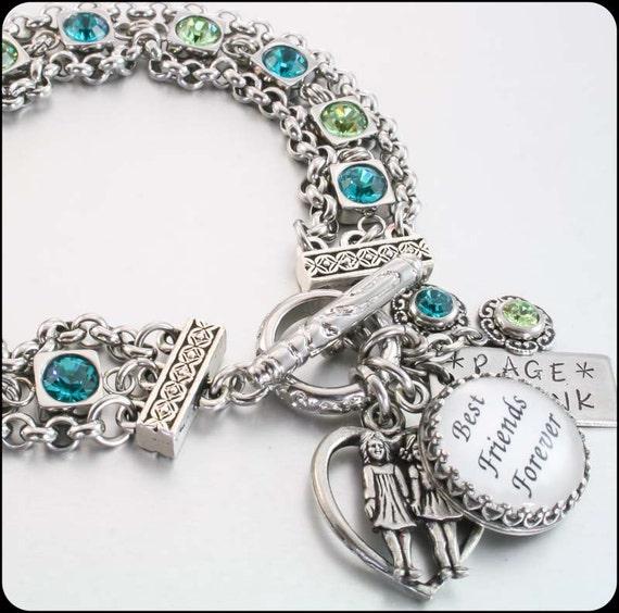 the ultimate best friends charm bracelet by blackberrydesigns