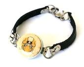 Octopus Bracelet, Octopus Jewelry, Octopus Art Jewelry, Ocean Art Bracelet, Leather Bracelet, Beach Art Jewelry, Beach Bracelet, Squid Art