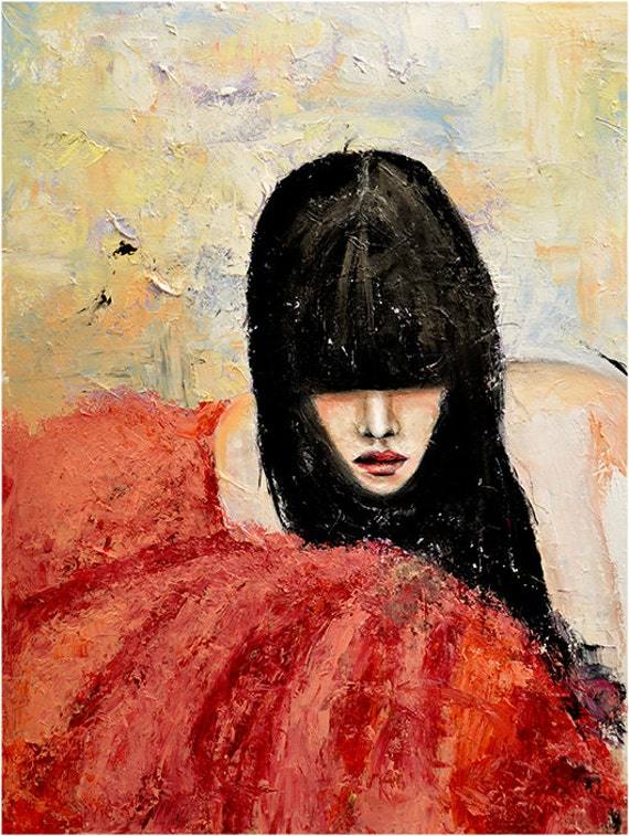 Tulle  - Fashion Oil Painting Art Print