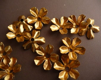 Pretty Brass Flowers with Five Petals (12)