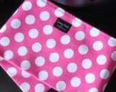 Just Like Mommy Baby Doll Sling- White Polka Dots On Pink-Perfect For American Girl Dolls-Free Shipping When Purchased With a Wrap