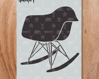 Chair Mod Rocker Stencil- Reusable Craft & DIY Stencils- S1_01_86 -8.5x11- By Stencil1
