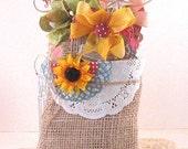 Summertime Fun - Mason Jar Gift Tags in a burlap Gift bag