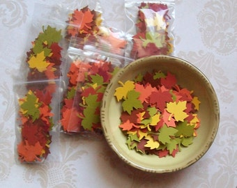 Maple Leaf - Leaves - Fall Confetti - 500 pieces - Autumn Mix