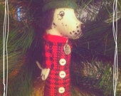 This item on RESERVE for Eric - -  Dalmation Ornament