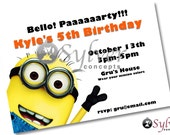 Minion Birthday Invitation - You Print